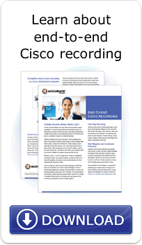 Learn about end-to-end Cisco recording